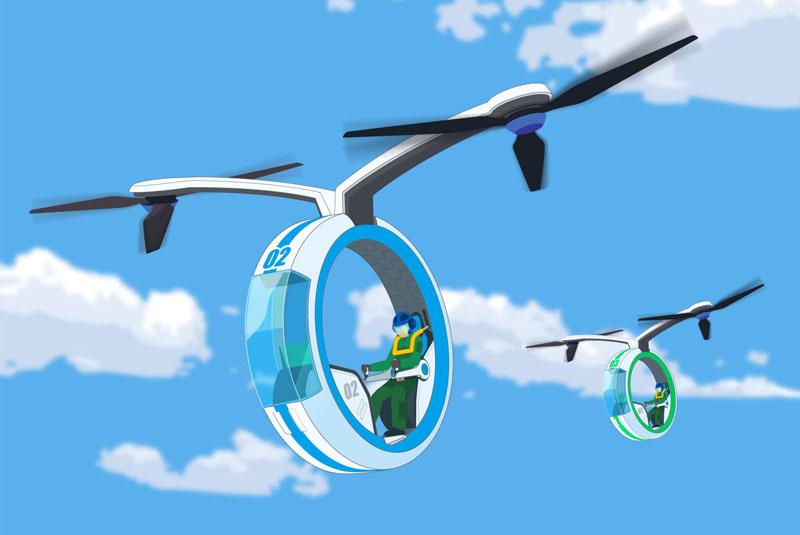 未来の乗り物??